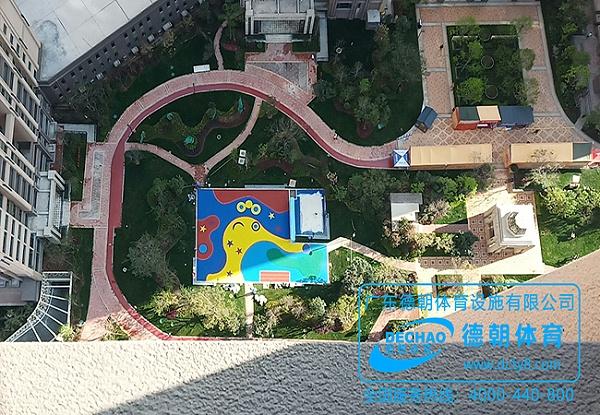 云南昆明海伦国际室外EPDM彩色运动游乐区