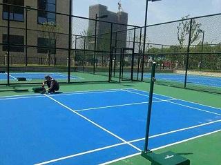 硅PU网球场材料