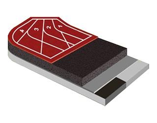 透气型塑胶跑道材料